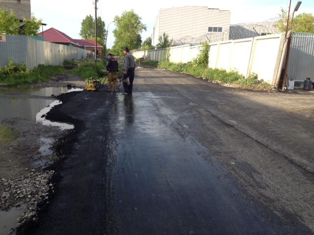 Асфальтирование на ул.Садовой