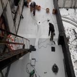 ПВХ-мембрана. Близятся к завершению работы по устройству кровли здания в г.Каменске-Уральском.
